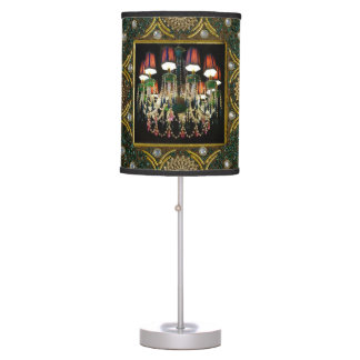 Abajur De Mesa Candelabro colorido da jóia e design verde da