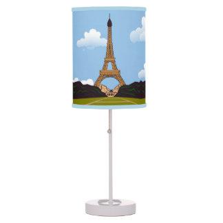 Abajur De Mesa Desenhista da torre Eiffel de Paris