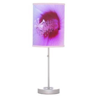 Abajur De Mesa Flor branca do hibiscus