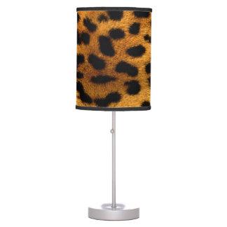 Abajur De Mesa Impressão do leopardo