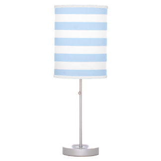 Abajur De Mesa Luz à moda moderna - o branco azul listra o