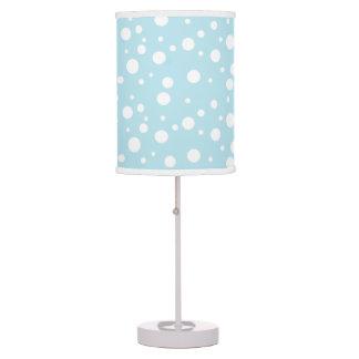 Abajur De Mesa Luz azul e branca da mesa das bolinhas