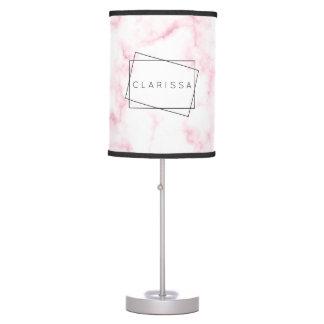 Abajur De Mesa o falso moderno elegante do rosa pastel e do