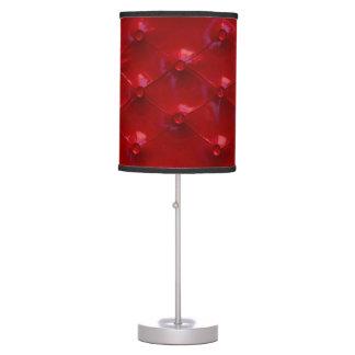 Abajur De Mesa Teste padrão de couro vermelho da textura de