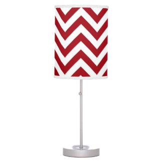 Abajur De Mesa Teste padrão de ziguezague branco vermelho de