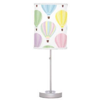 Abajur De Mesa Teste padrão do Pastel do balão de ar quente