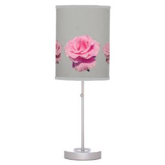Abajur De Mesa Teste padrão do rosa do rosa