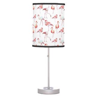 Abajur De Mesa Teste padrão elegante cor-de-rosa do flamingo