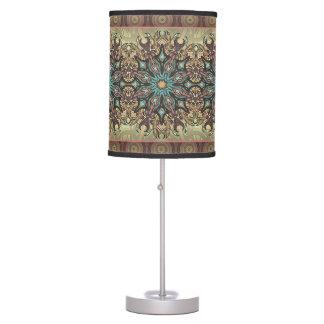 Abajur De Mesa Teste padrão floral étnico abstrato colorido da
