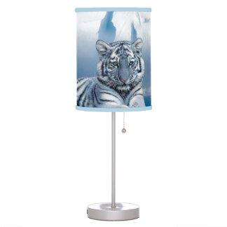 Abajur De Mesa Tigre branco azul