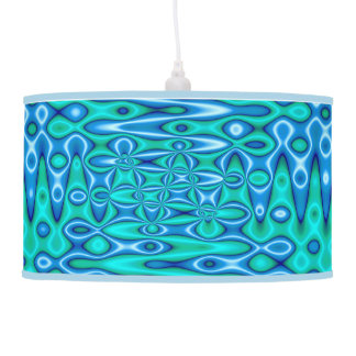 Abajur De Teto Abstrato moderno do azul de turquesa