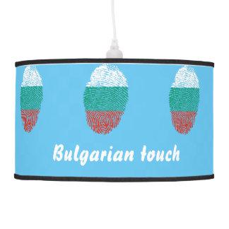 Abajur De Teto Bandeira búlgara da impressão digital do toque