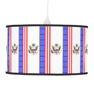 Abajur De Teto Bandeira das listras dos Estados Unidos