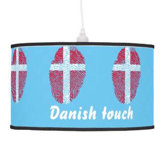 Abajur De Teto Bandeira dinamarquesa da impressão digital do
