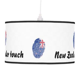 Abajur De Teto Bandeira neozelandesa da impressão digital do