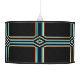 Abajur De Teto Cruz azul preta vermelha do néon do arco-íris do