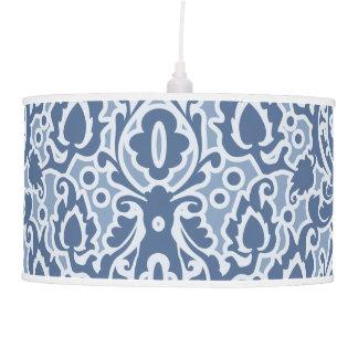 Abajur De Teto Damasco elegante azul de Marrocos Casbah
