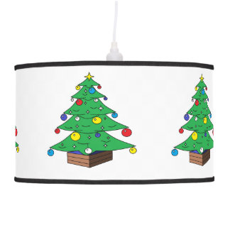 Abajur De Teto Desenhos animados decorados da árvore de Natal