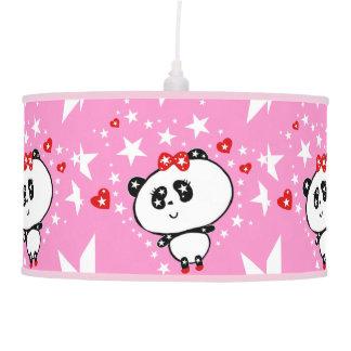 Abajur De Teto Engraçado bonito dos ursos de panda personalizado