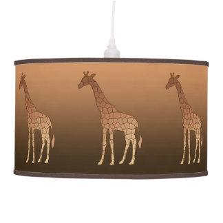 Abajur De Teto Girafa, cobre e Brown geométricos modernos
