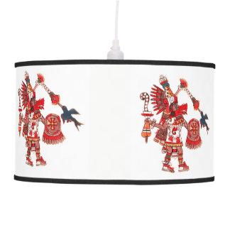 Abajur De Teto Guerreiro asteca do shaman da dança