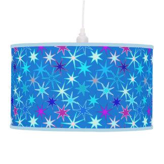 Abajur De Teto Impressão moderno de Starburst, azul Cerulean