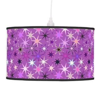 Abajur De Teto Impressão moderno de Starburst, roxo violeta e