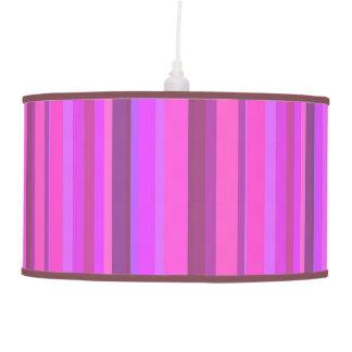 Abajur De Teto Listras verticais cor-de-rosa