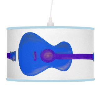 Abajur De Teto máscara azul da luz da guitarra