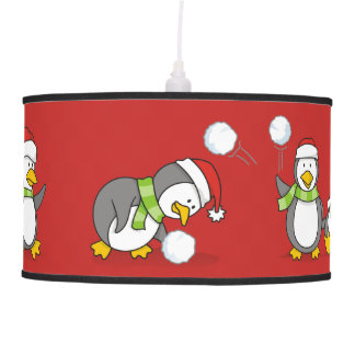 Abajur De Teto Pinguins do Natal