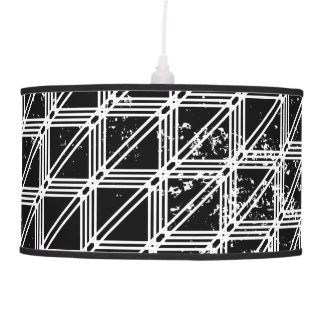 Abajur De Teto Teste padrão geométrico preto e branco