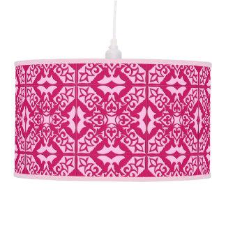 Abajur De Teto Teste padrão marroquino do azulejo, fúcsia e rosa