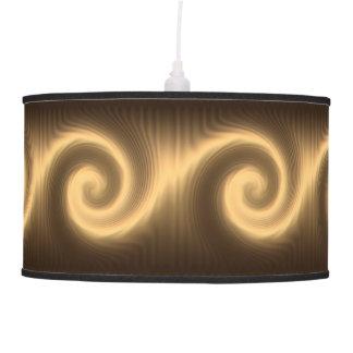 Abajur De Teto Textura espiral dourada