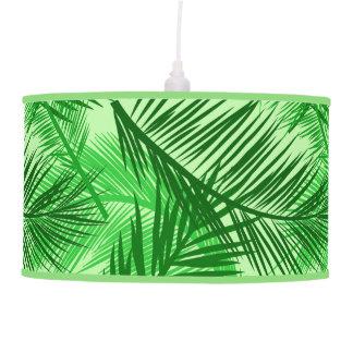 Abajur De Teto Verde limão em folha de palmeira do impressão, da