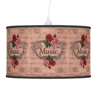 Abajur De Teto Vintage floral para o amor da música