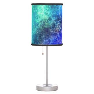 Abajur Espaço verde das chamas azuis da nebulosa
