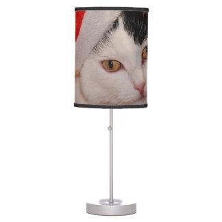 Abajur Gato de Papai Noel - Feliz Natal - gato do animal