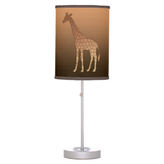 Abajur Girafa, cobre e Brown geométricos modernos