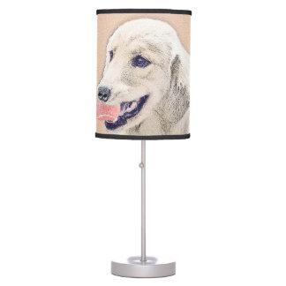 Abajur Golden retriever com arte do cão da pintura da