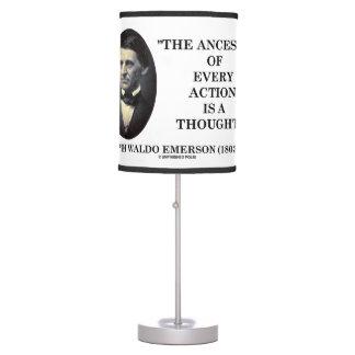 Abajur O antepassado de Emerson de cada ação é um