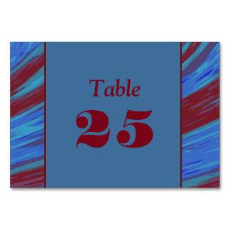 Abanada azul da cor vermelha cartão