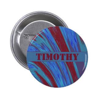 Abanada da cor de azul vermelho bóton redondo 5.08cm