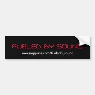 abastecido pelo som, www.myspace.com/fueledbysound adesivos