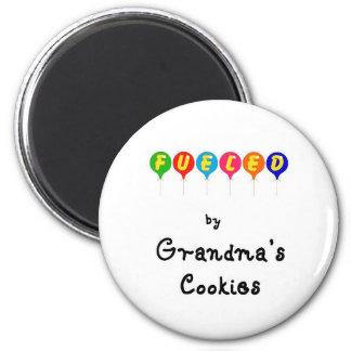 Abastecido pelos biscoitos de Gramma Ímã Redondo 5.08cm