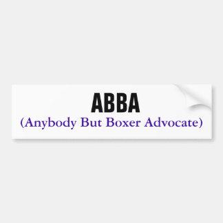 ABBA, (advogado qualquer um mas do pugilista) Adesivo Para Carro
