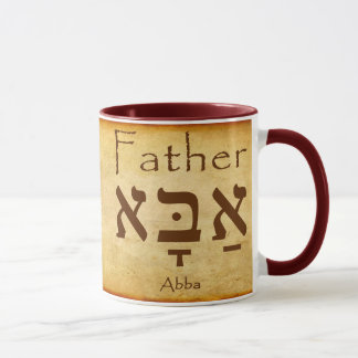 ABBA - CANECA DO HEBRAICO DO PAI