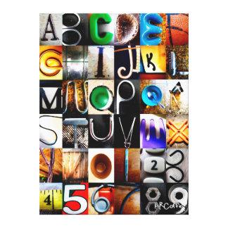 ABC 123 IMPRESSÃO EM TELA CANVAS