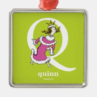 ABC do Dr. Seuss: Letra Q - O branco   adiciona Ornamento De Metal