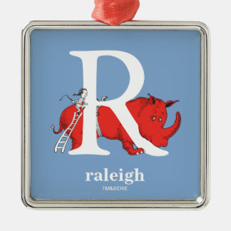 ABC do Dr. Seuss: Letra R - O branco   adiciona Ornamento De Metal