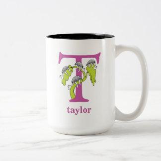 ABC do Dr. Seuss: Letra T - O roxo | adiciona seu Caneca De Café Em Dois Tons